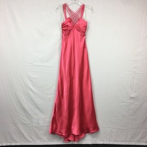 Ignite Evenings Pink Sequin Strappy Formal Dress